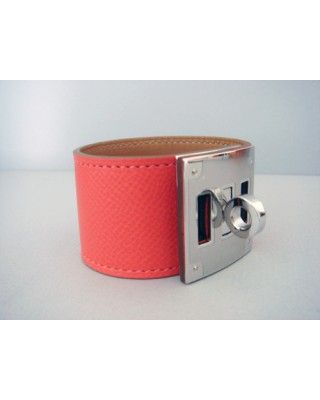 Hermes Rose Jaipur Kelly Dog Bracelet Cuff Phw Pink NIB discount wholesale,online outlet