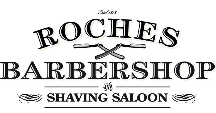 Roches Barbershop – identity for gents hairdressers established  over 100 years ago.
