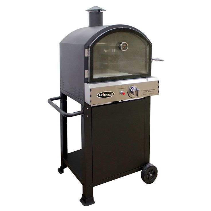 AZ Patio Heaters Propane Pizza Oven Trolly - Matte Black