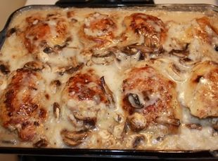 Smothered Chicken with Rice Recipe