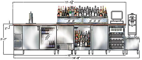 bar equipment layout - Google Search