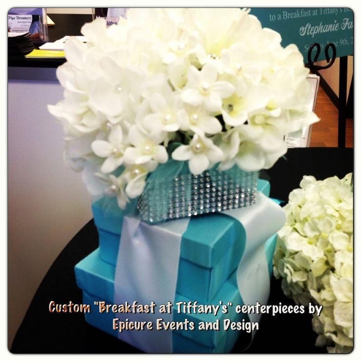 "Breakfast at Tiffany's Centerpieces   Custom ""Breakfast at Tiffany's"" bridal shower centerpieces by www ..."