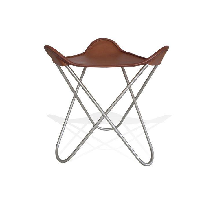 WEINBAUMS Ottoman Für Hardoy Butterfly Chair Leder Tabakbraun #Ottoman  #Hocker #Design #MadeinLeipzig