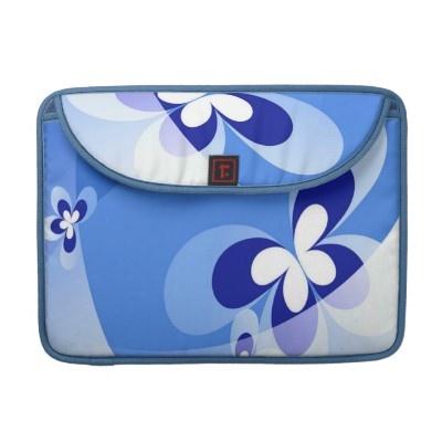 Blue Butterflies MacBook Sleeve by elenaind