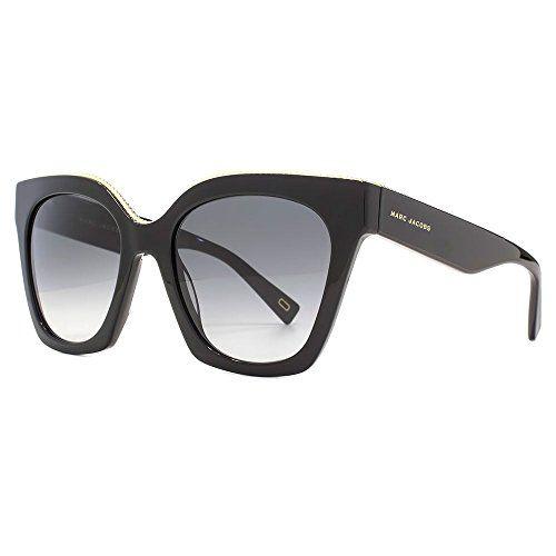 Marc Jacobs Metal Twist Brow Detail Cateye Sunglasses in Black MARC 162/S 807 52