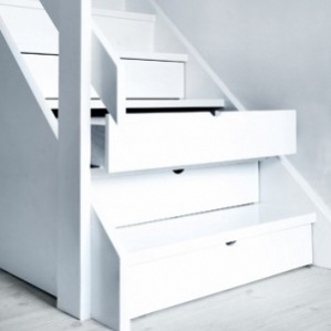 Cheeky stair storage for shoes!