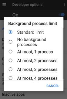 This Background limits on apps android O feature will improve your android O battery life to limit its use of background processes or add limitations on app