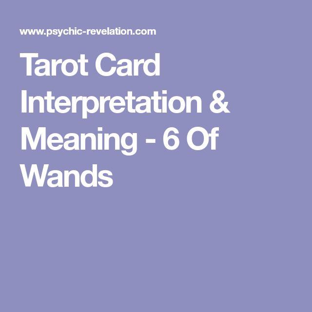 Tarot Card Interpretation & Meaning - 6 Of Wands