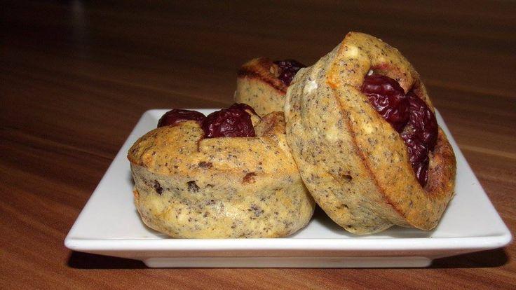 Mákos-meggyes zabmuffin :: dietaénigyszeretlek.hu