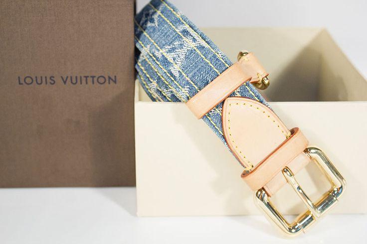 Authentic Louis Vuitton Belt Size 85 Denim