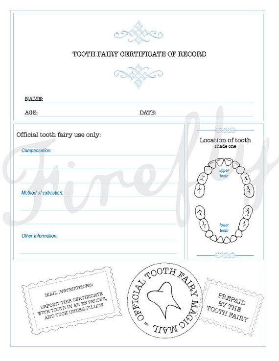 Tooth fairy certificate-Certificado del Raton Perez on Etsy, $4.00