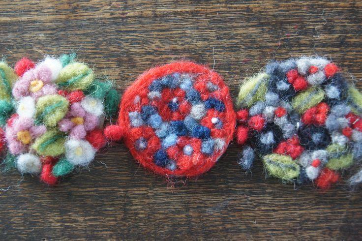 Handmade Felted Broaches