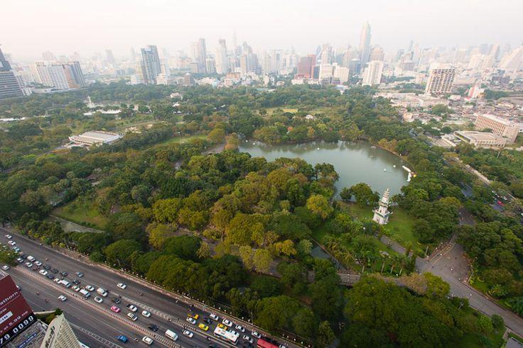 Lumphini Park as seen from Park Society, Sofitel So, Bangkok. Photo by Austin Bush
