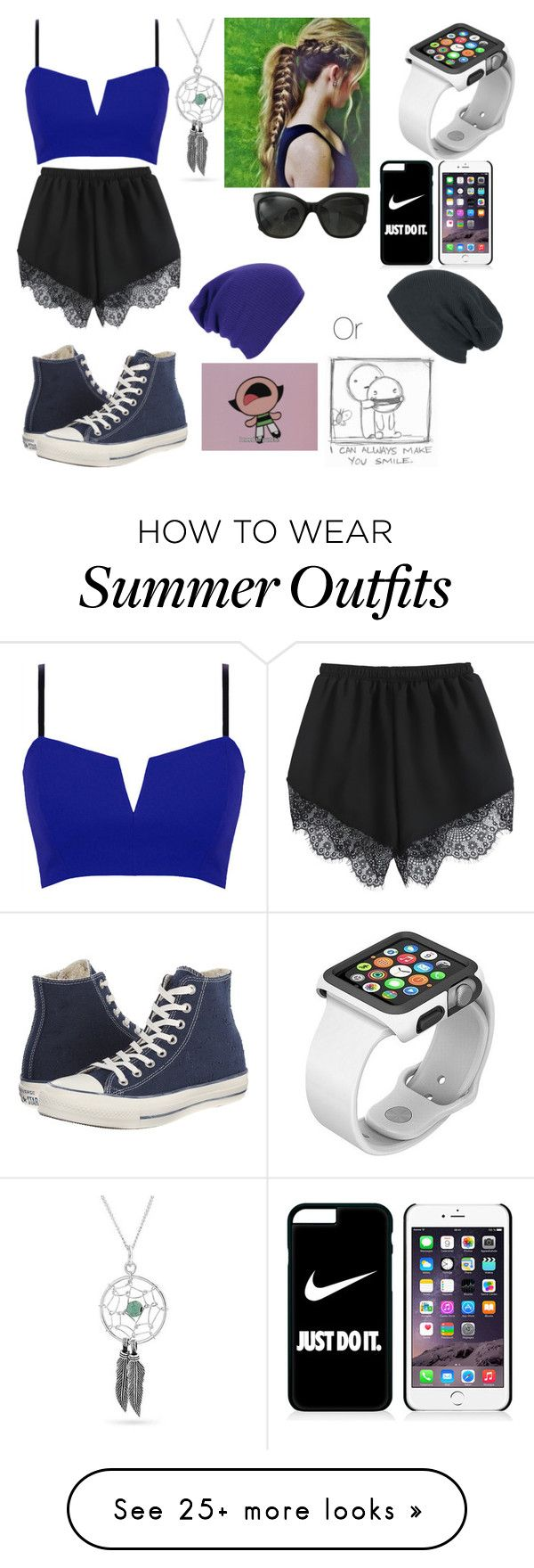 """....last spring/summer outfit"" by fashiondiva76 on Polyvore featuring Bling Jewelry, Target, Converse, NIKE and Chanel"