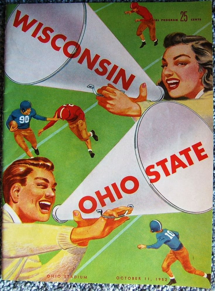 Check out Wisconsin at Ohio State Stadium Football Program 1952 USA Vintage Advertisements  https://www.ebay.com/itm/Wisconsin-Ohio-State-Stadium-Football-Program-1952-USA-Vintage-Advertisements-/161608666594?roken=cUgayN&soutkn=lS7y86 via @eBay