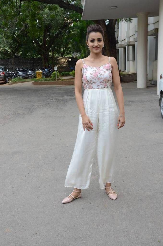f8ed56b162 Indian Actress Trisha In White Dress