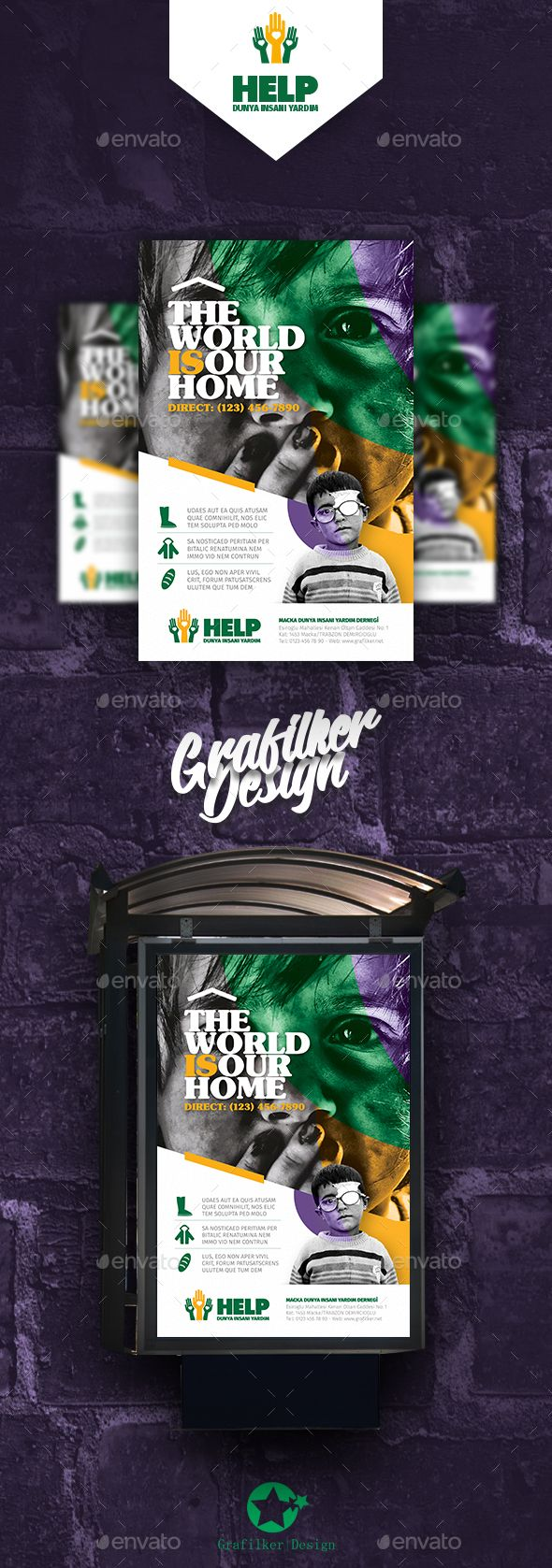 Charity Poster Templates — Photoshop PSD #foster #talent • Download ➝ https://graphicriver.net/item/charity-poster-templates/21429163?ref=pxcr