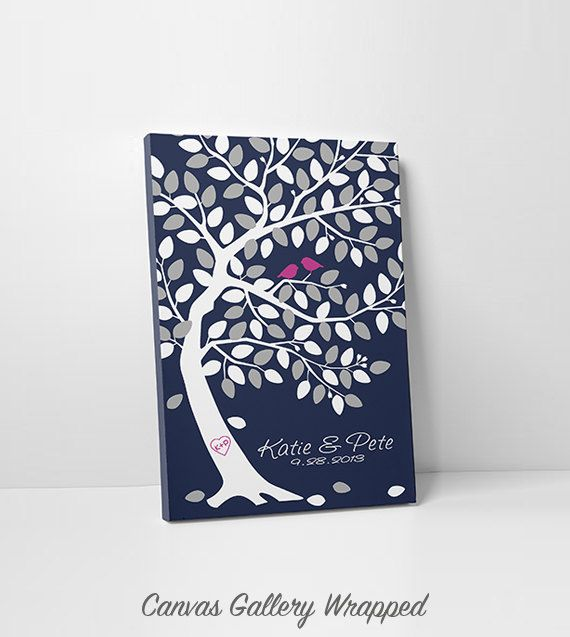 Unique Wedding Guest Book Alternative - Wedding Tree Guest Book - Save the Date 100-150 Guest Sign In - 16x20,20x30 or 24x36