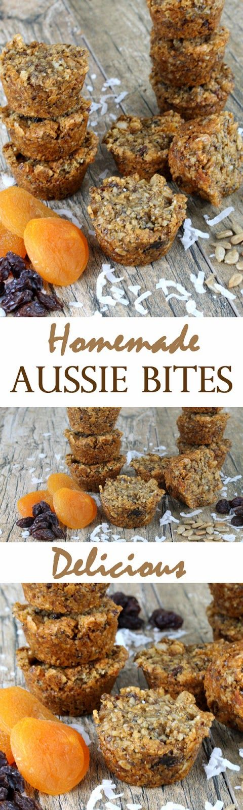 Homemade Aussie Bites *toasted the coconut and used coconut oil instead of canola oil...awesome!!