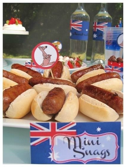 Australia Day Party Food Ideas #australiaday #partyideas #foodideas