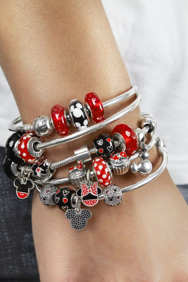 pandora loves disney and this mickey and minnie inspired bracelet styling - Pandora Bracelet Design Ideas