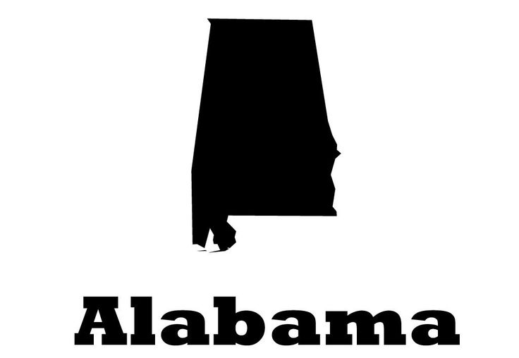 Alabama state vinyl wall decal map silhouette sticker decoration of yellowhammer heart of dixie state montgomery capital marked with heart
