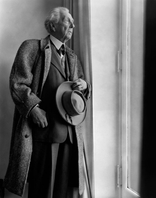 Berenice Abbott: A portrait of Frank Lloyd Wright, New York, 1950