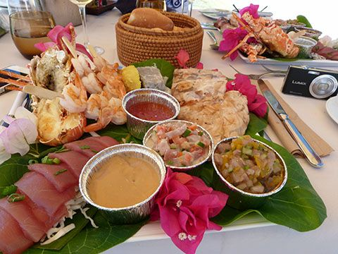 Lunch from the Hilton on Bora Bora, Tahiti.