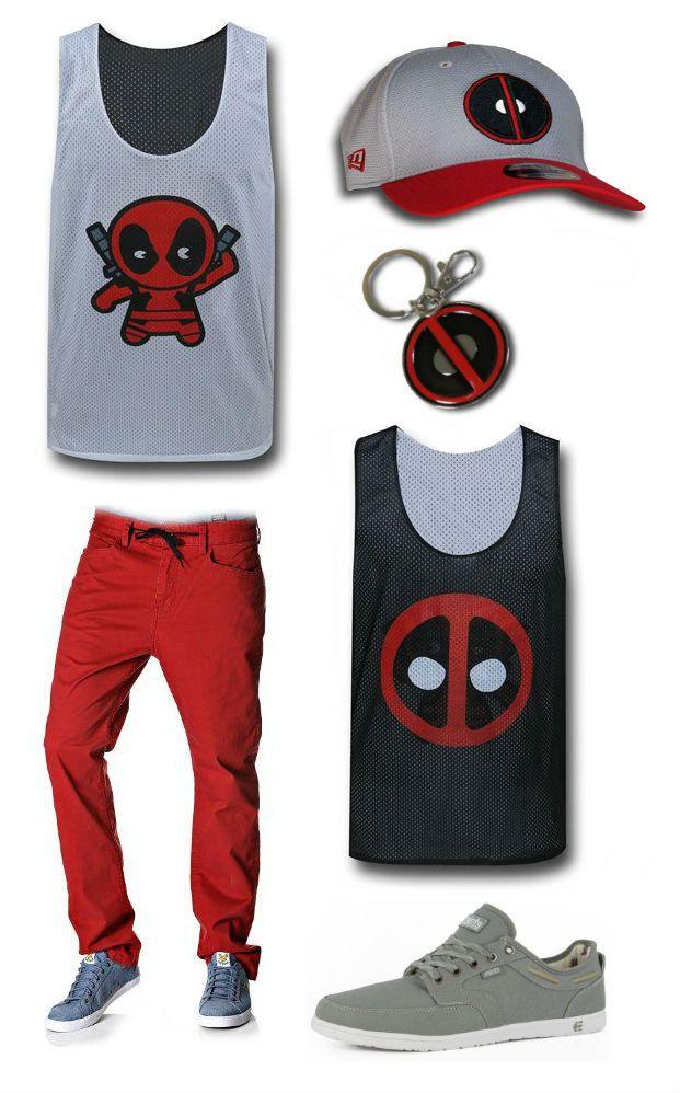 "JUST CHILLIN: ""Deadpool"" inspired Outfit by Korri Burkert Deadpool Symbol 39Thirty Cap: http://www.superherostuff.com/deadpool/baseball-caps/deadpool-symbol-grey-39thirty-cap.html?itemcd=capdpgry3930 Element Chinos: http://www.amazon.com/Element-Mens-Team-Chinos-W33/dp/B00C25DZ94 Deadpool Keychain: http://www.superherostuff.com/deadpool/key-chains-and-key-rings/deadpool-symbol-pewter-keychain.html?itemcd=keydpoolpewsym Etnies Dory Shoes…"