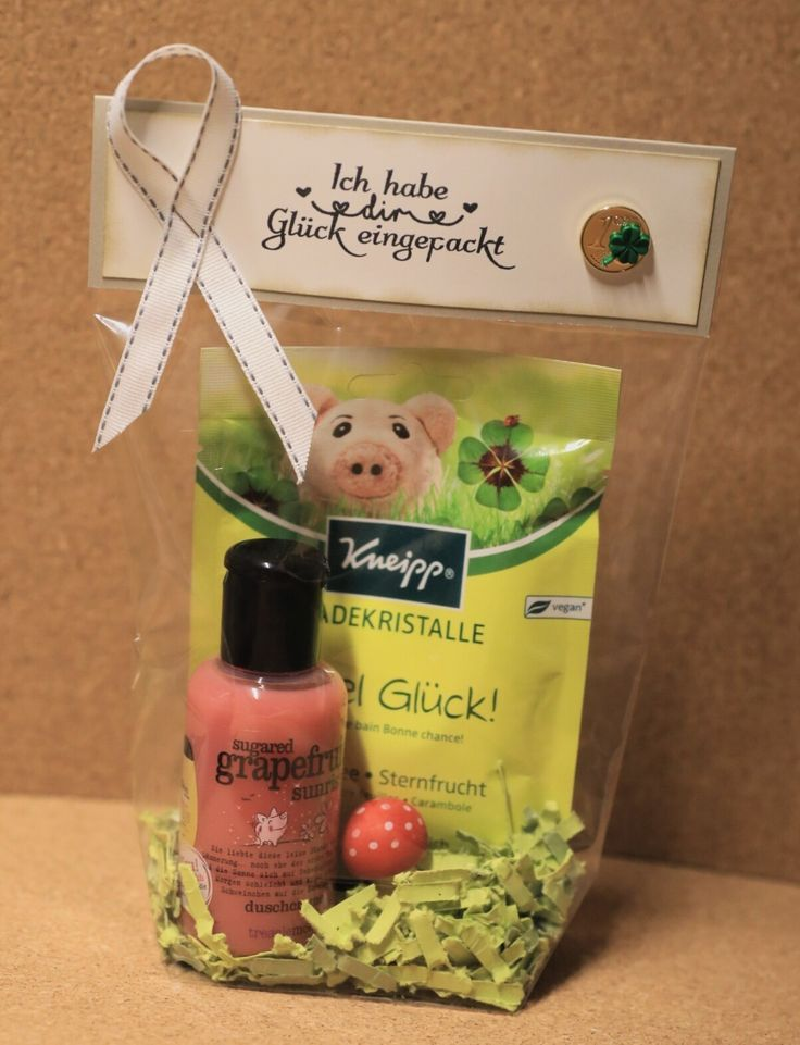 Lucky bag, I have packed you luck; Gift bag, bath salt gift