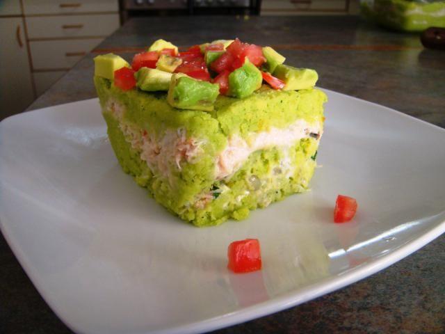 El perejil y la espinaca le otorgan al puré un color verde y un sabor especial.