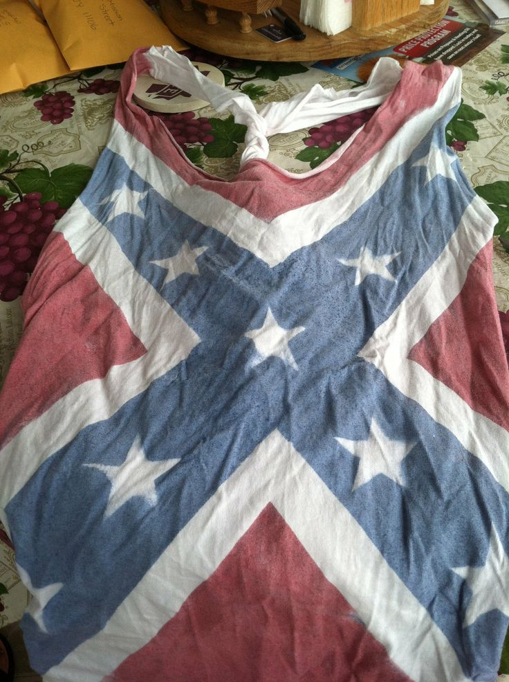 Confederate Flag Tank Tops. $25.00, via Etsy.