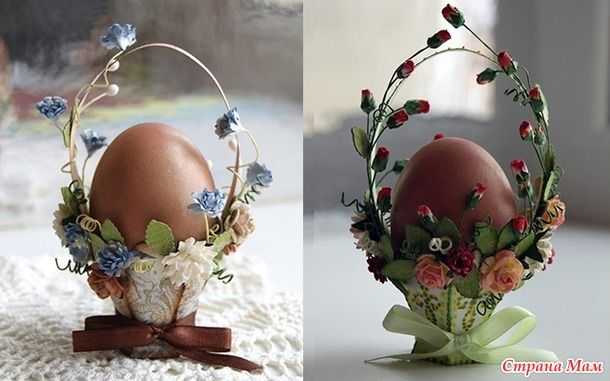 Корзинки для пасхальных яиц своими руками! (много идей и мастер-классы)
