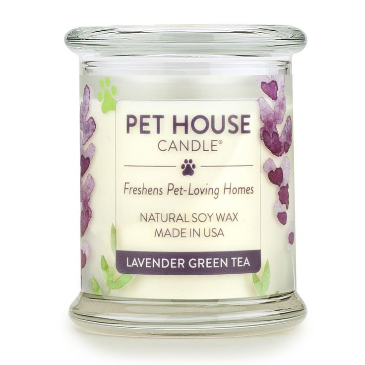 Lavender Green Tea Pet House Candle: Pet Odor Candle 100% Soy Wax – One Fur All