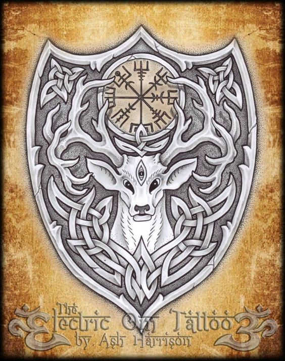 Nice knotwork, but why does the deer have a third eye?