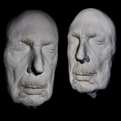 Vincent Price Life Mask Rare Last Taken Before Death Light Weight White Resin  