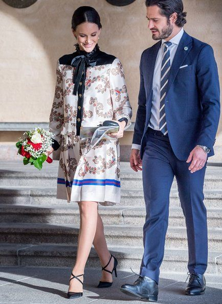 Princess Sofia and Prince Carl Philip at a reception for Governor General David Johnston and his wife Sharon Sweden Visit