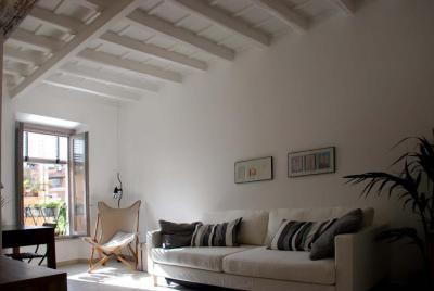 Apartments in Rome - Livingroom/sofa bed, Vicolo del Bologna - Trastevere