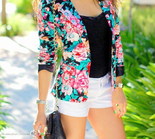 #giacca #fiori #cool