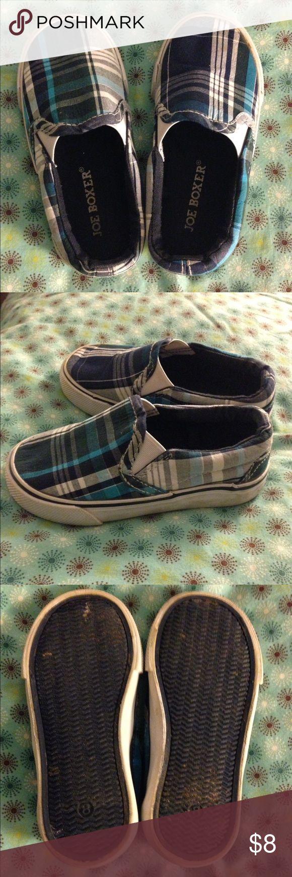 Joe Boxer slip-on canvas sneakers Adorable plaid shoes. Worn rarely. Joe Boxer Shoes Sneakers