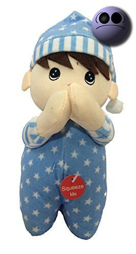 #manythings.online Adorable Blue 9 Inch #Spanish Doll helps baby fall asleep to a prayer. Squeeze his tummy to here the prayer.