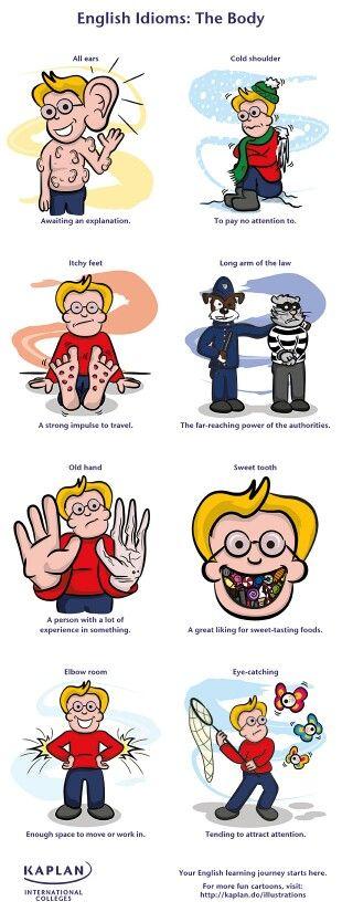 Frasi idiomatiche in inglese: parti del corpo
