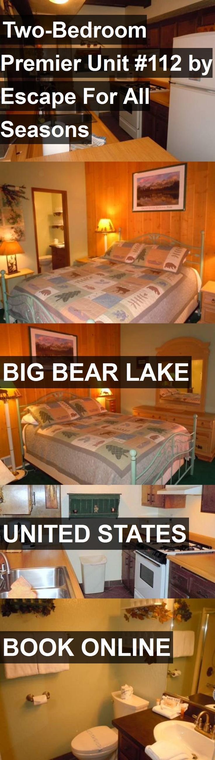 Hotel Two-Bedroom Premier Unit #112 by Escape For All Seasons in Big Bear Lake, United States. For more information, photos, reviews and best prices please follow the link. #UnitedStates #BigBearLake #travel #vacation #hotel