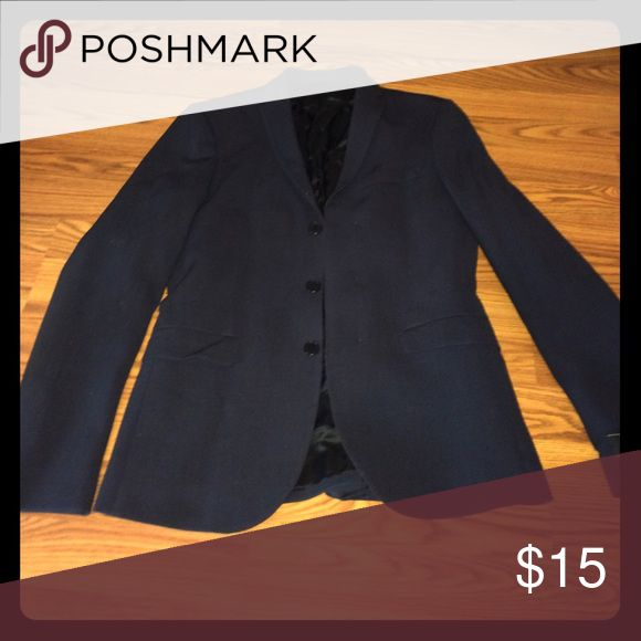 H&M Slim Fit Blazer Size is Medium but runs small has only 2 wears and no washes it is navy blue Suits & Blazers Sport Coats & Blazers