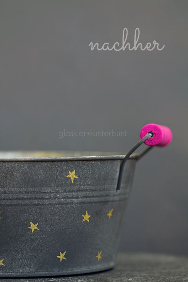 plant pot DIY gold+pink