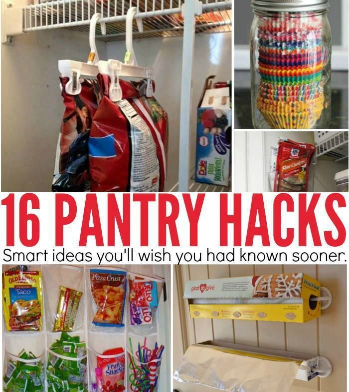 Kitchen Pantry Hacks: 16 PANTRY HACKS…to HELP Keep You Organized! These Are Awesome And Helpful Ideas!!