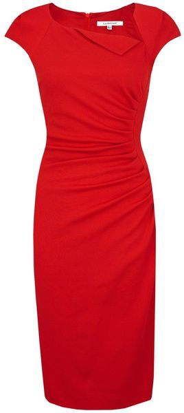 Lk Bennett Davina 2 Dresses in Red (lipstick)