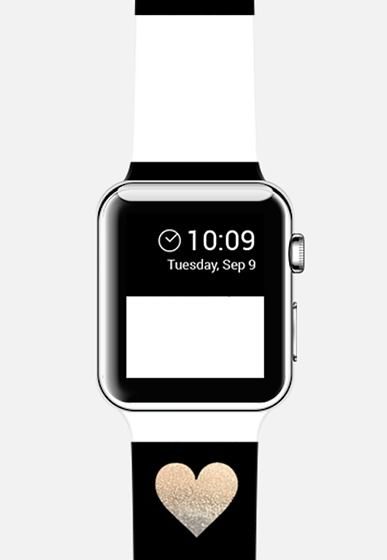 Black White & A Little Heart by Monika Strigel Apple Watch Strap | @Casetify