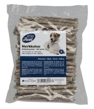 ✔ REAL DOG 600g 12cm Rouhepuikko 100kpl - Koiran ruoat - Tokmanni