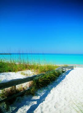 Panama City, Florida - Just look at that bright blue sky, gorgeous water, and white sand!